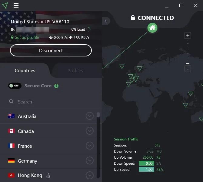 ProtonVPN VPN illimitata gratuita