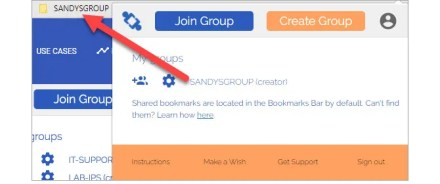 sync bookmarks with TeamSync Bookmarks - view group