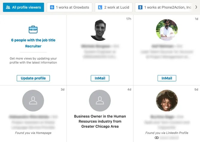 Who Viewed Your Profile in LinkedIn Premium