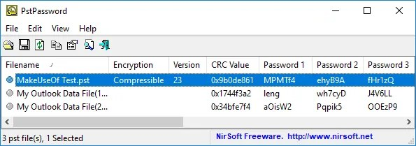 Herramienta de recuperación de contraseña de Microsoft Outlook PstPassword