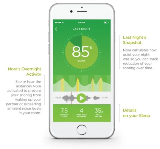 app screenshot 537x500 - Smart Nora Review: The Most Effective Non-Invasive Anti-Snoring Device Yet