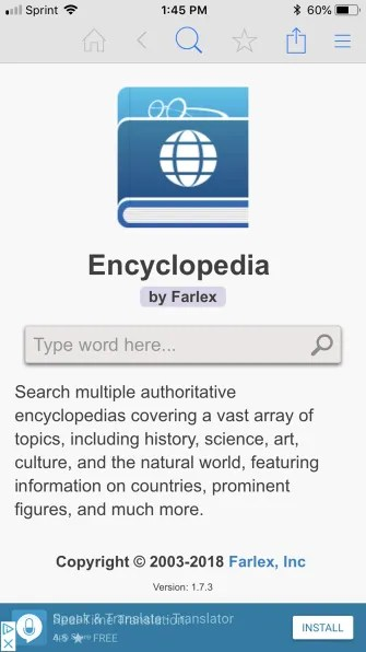 EncyclopediaByFarlexMain iPhone 335x596 - The 12 Best Reference Apps to Look Up Anything While On the Go