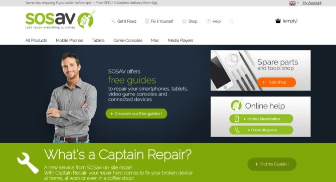 RepairGadgets SOSav - Learn to Fix Your Own Gadgets With Help From These 5 Sites