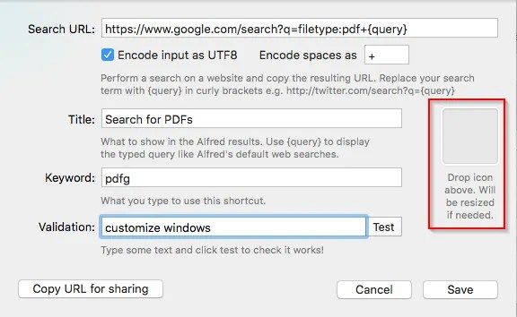 google filetype pdfs custom search - How to Search the Web Like a Pro Using Alfred for Mac