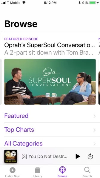 podcast browse tab 1 335x596 - A Guide to the (Surprisingly Excellent) iPhone Podcasts App