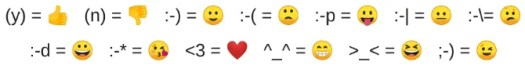 Whatsapp Web auto-changes a set of text emoticons to emojis as a great keyboard shortcut