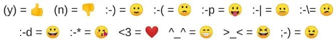 whatsapp web emoticons