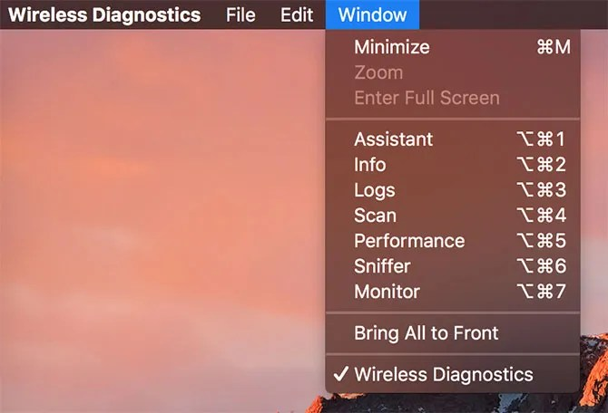 wifi diags menu bar - How to Analyze and Improve Your Wi-Fi Network With Your Mac