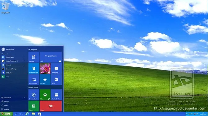 XP Темы для Windows 10