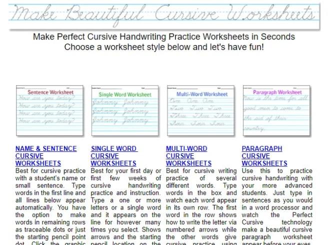 10 Printable Handwriting Worksheets to Practice Cursive - BardTech