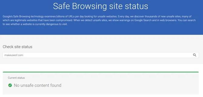 Google Safe Browsing MUO Status - 5 Surprising Ways Google Improves Your Online Security