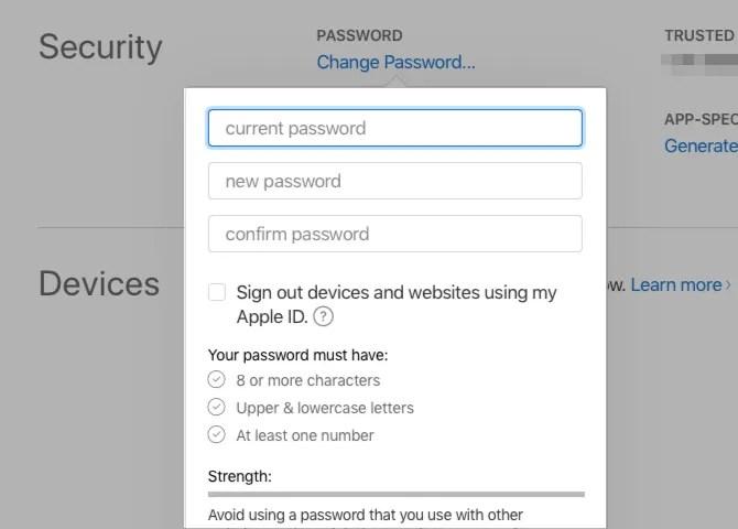 change-apple-password-web