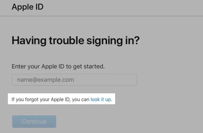 find-apple-id-web