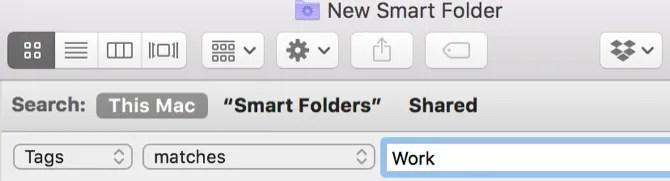 Mac Smart Folder Tags