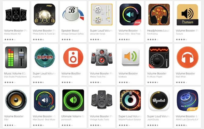 Play Store Android Volume Booster Apps