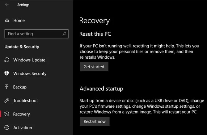 Windows-10-Recovery-Reset