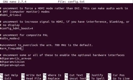 Edit config.txt on the Raspberry Pi