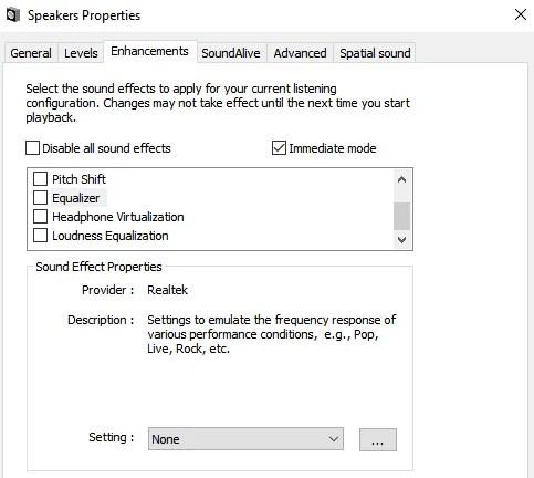 Windows 10 Sound Equalizer
