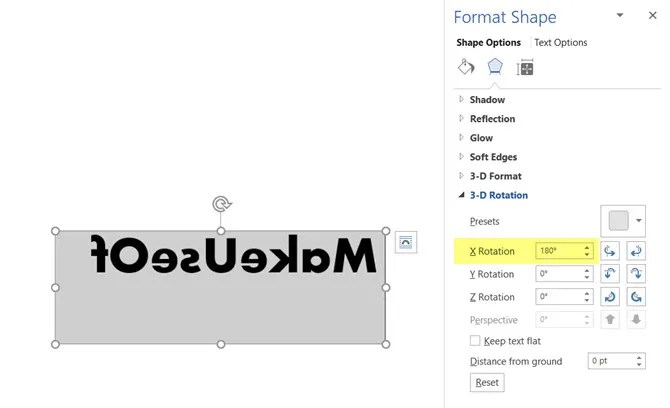 Microsoft Word Mirror Shape - How to Reverse or Mirror Text in Microsoft Word
