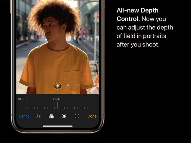 depth control - Apple's 2018 Event: 3 New iPhones and a New Apple Watch