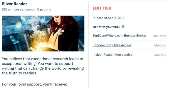 membership tiers - How to Launch a Successful Patreon Page