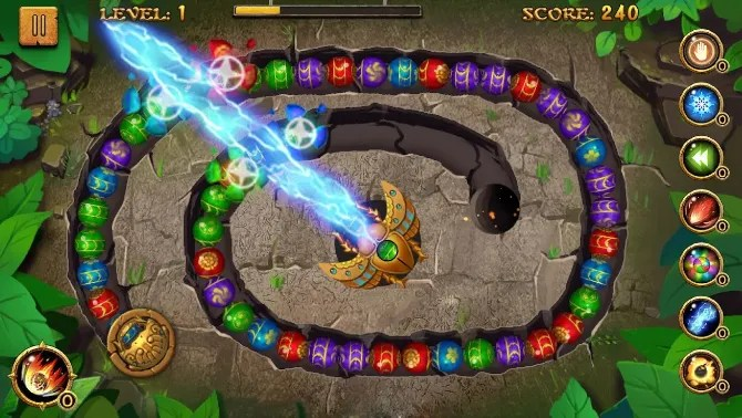 Jungle Marble Blast - лучшие оффлайн игры для Android