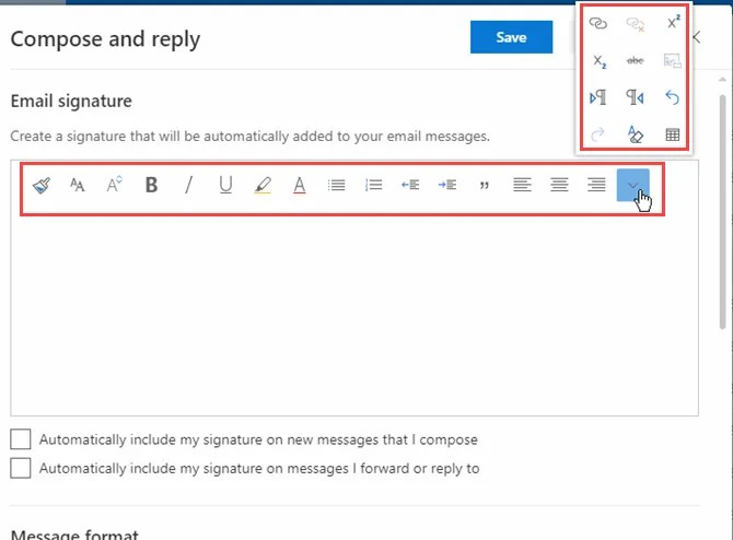 Formattare una firma in Outlook in Office 365