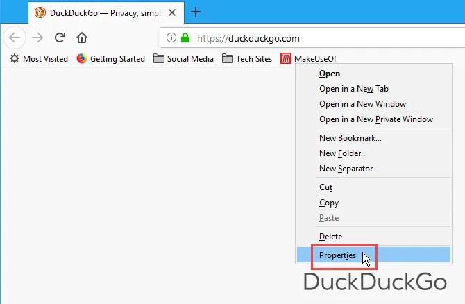 Ottieni le proprietà di un segnalibro in Firefox