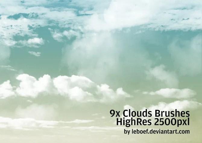 Set di pennelli Adobe Photoshop Cloud