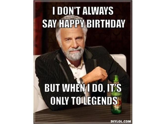 Meme di compleanno di Dos Equis Man