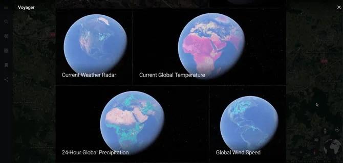 Mappa del tempo globale su Google Earth
