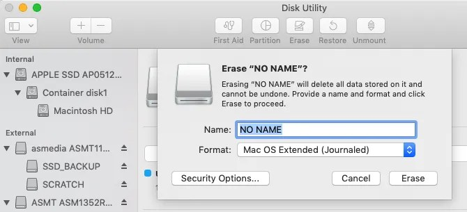 Come cancellare un'unità flash da Utility Disco su un Mac