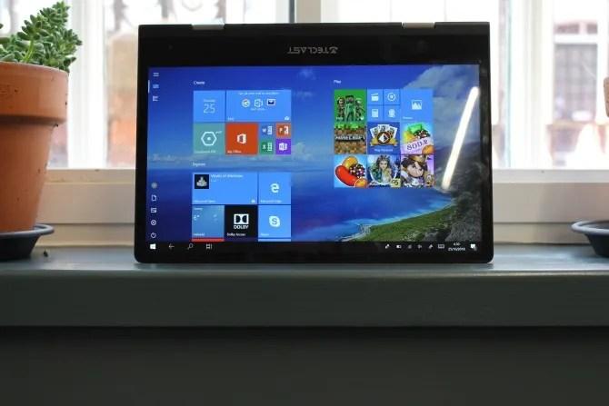 Teclast F5 Tablet Mode su Window Shelf