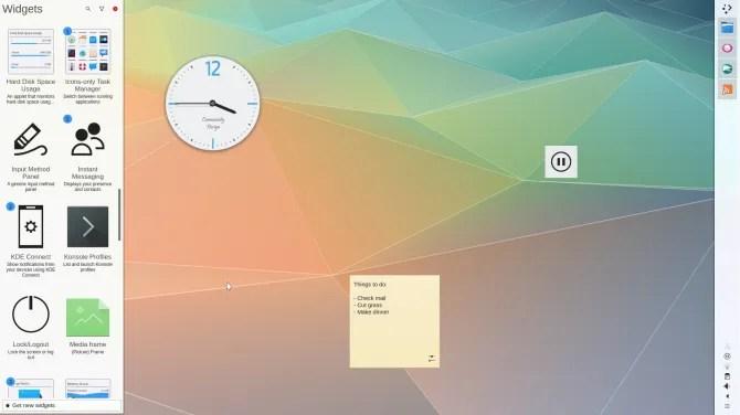 Рабочий стол KDE Plasma Linux