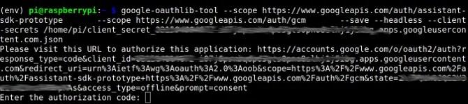 Generazione del link Autorizzazione dalla riga di comando.