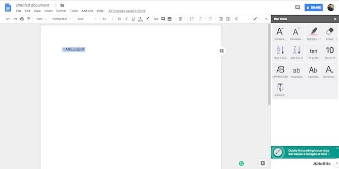 Componente aggiuntivo di Strumenti per i documenti di Google Documenti