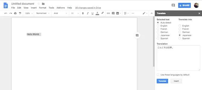 Componente Google Traduttore componente aggiuntivo