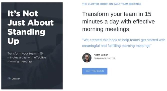 L'ebook gratuito di Qlutter insegna come tenere riunioni giornaliere mattutine