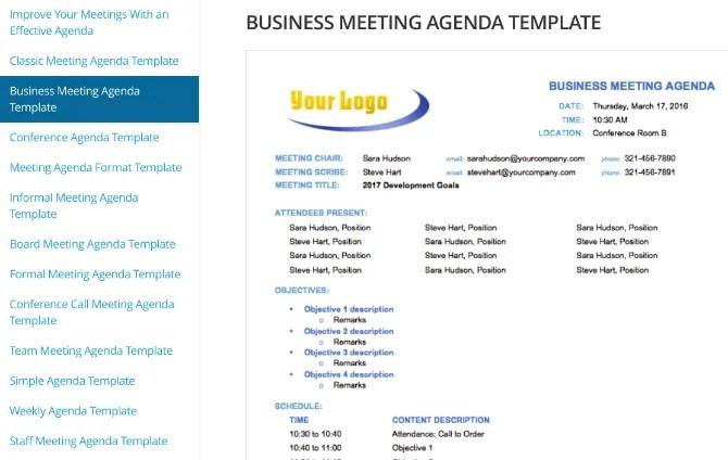 Scarica gratuitamente modelli di agenda per riunioni per Word o Google Documenti da Smartsheet
