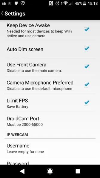 muo android webcam droidcam settings 335x596 - تطبيق DroidCam يمكنك من استخدام كاميرا هاتفك على شاشات الكمبيوتر