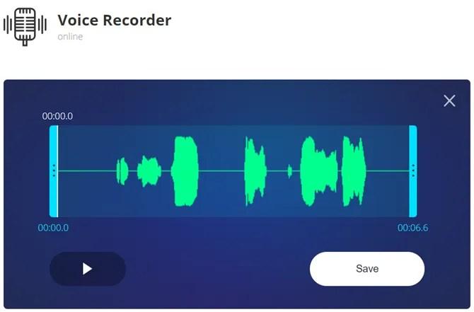 registratore vocale online