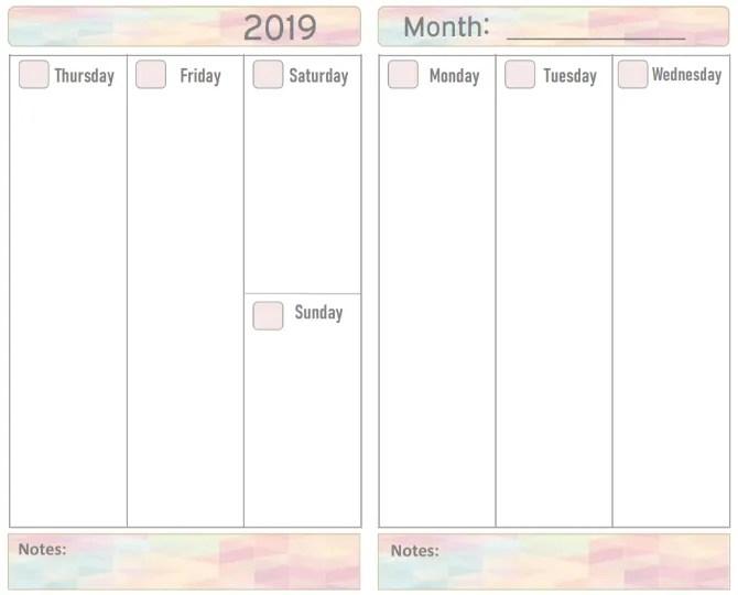 2019 Printable Planner — календарь на новый год