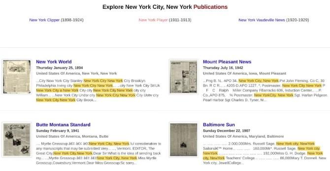 L'archivio dei giornali ha scansioni di vecchi giornali che sono stati chiusi