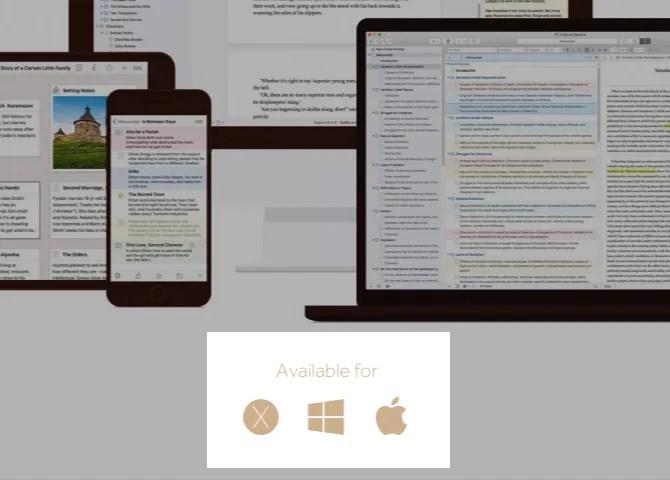 Scrivener-piattaforma disponibilità