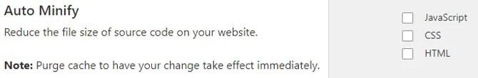 Opzioni di riduzione automatica di Cloudflare