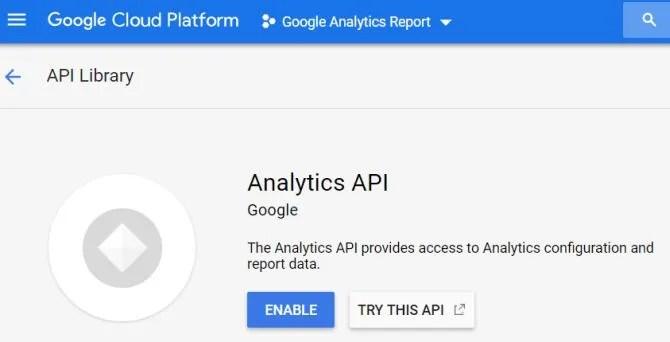 API analitica