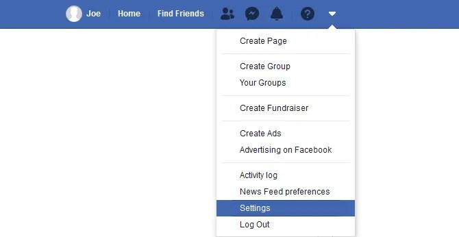 Come accedere alle impostazioni su Facebook