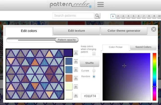 Pattern Cooler ti consente di creare modelli personalizzati per gli sfondi