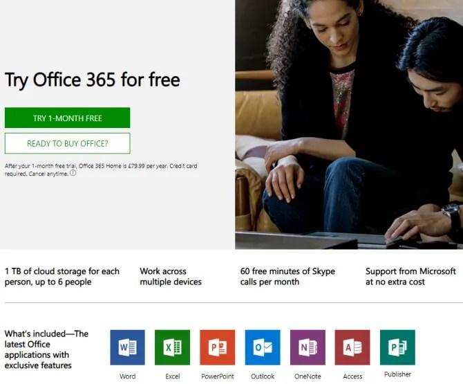 Microsoft Office prova la prova di Office 365