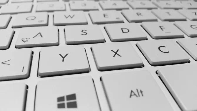 Una tastiera per laptop Windows